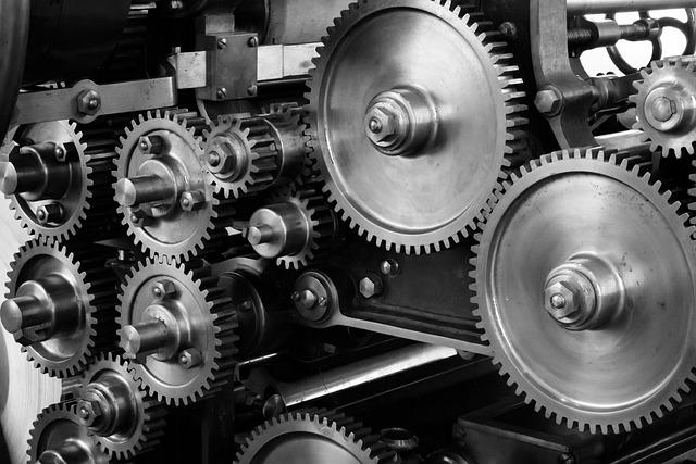 Gears, Cogs, Machine, Machinery, Mechanical