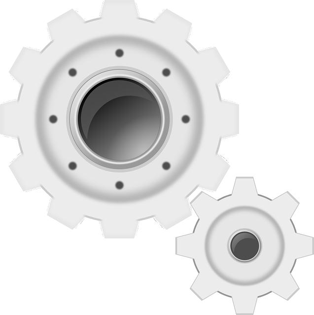 Gears, White, Machine, Cogwheels, Gearwheel, Settings