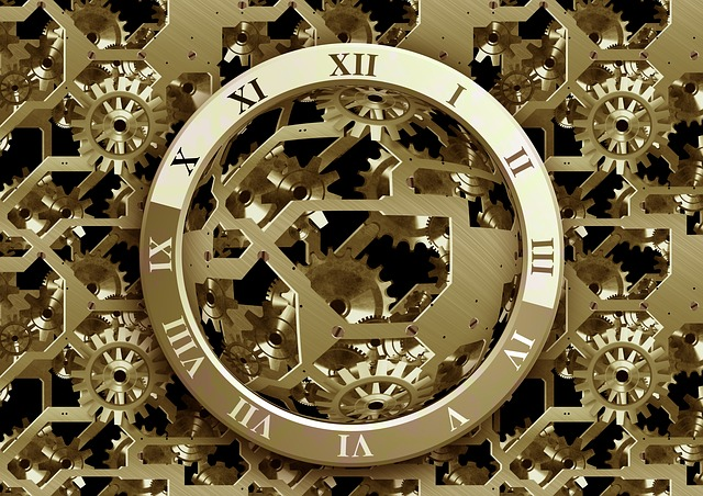 Clock, Time, Gear, Gears, Face, Blue, Way Of Thinking