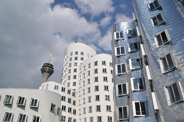 Gehry Buildings, Düsseldorf, Media Harbour