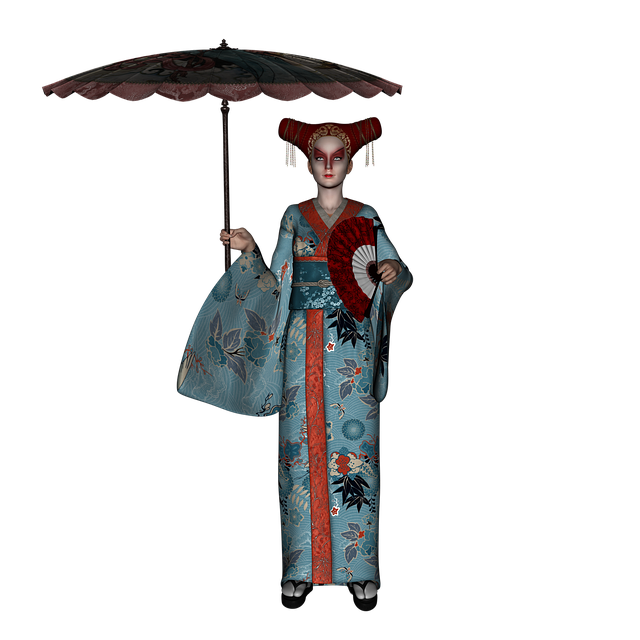 Geisha, Japan, Make-up, Kimono, Culture, Asia, Parasol