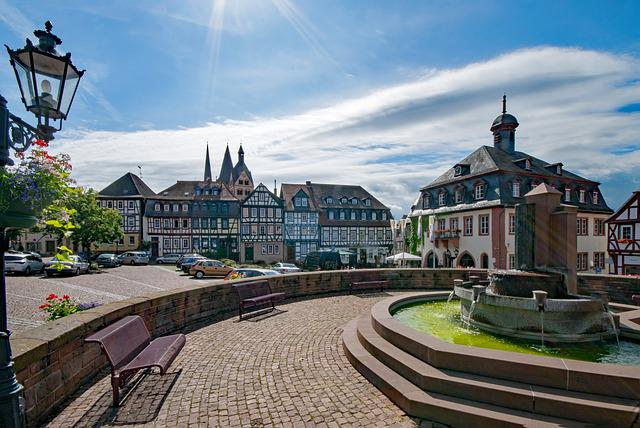 The Upper Square, Gelnhausen, Hesse, Germany