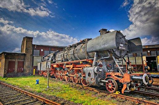 Gelsenkirchen, Ring Lokschuppen, Steam Locomotive