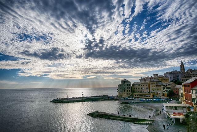 Bogliasco, Genoa, Liguria, Italy, Sea, City, Tourism