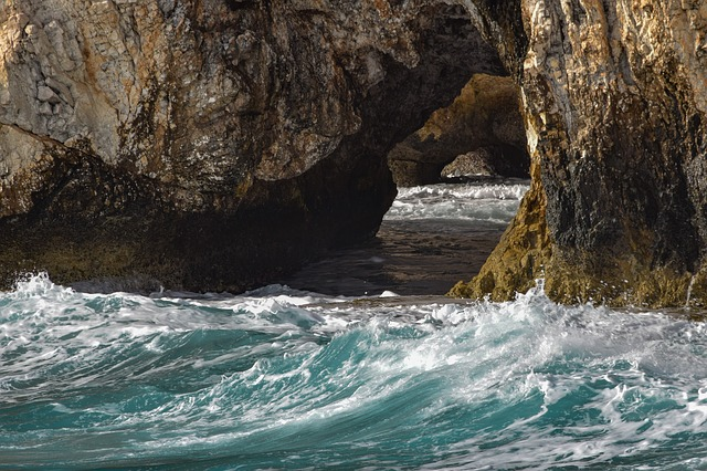 Sea Caves, Nature, Rock, Travel, Erosion, Geology