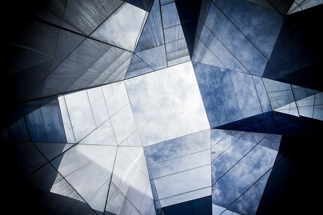 Architecture, Building, Geometric, Glass