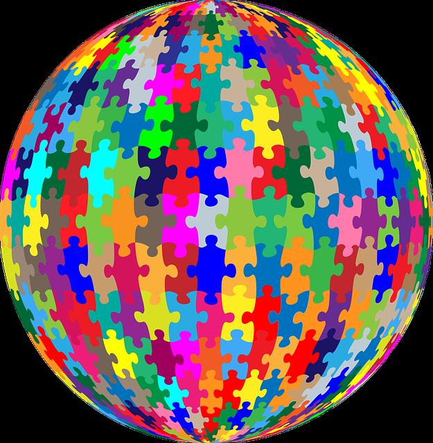 Puzzle, Sphere, Orb, Geometric, Jigsaw, Jigsaw Puzzle