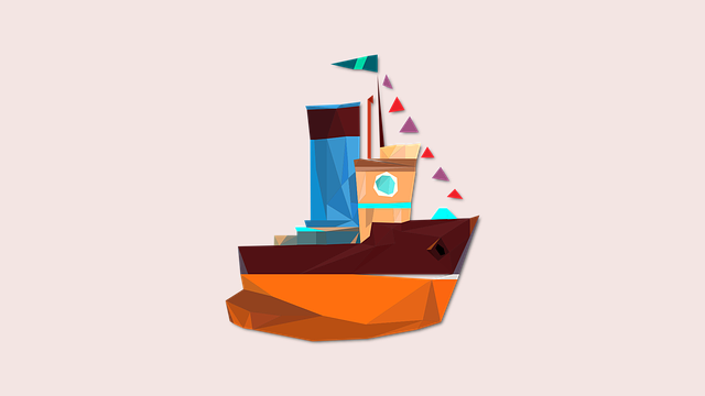 Boat, Ship, Swim, Triangle, Geometric