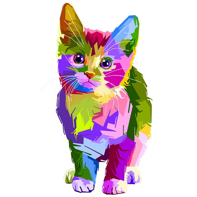 Animal, Colorful, Decoration, Cat, Design, Geometry