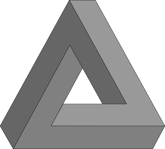 Geometry, Impossible Triangle, Optical Illusion