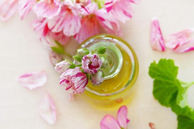 Oil, Geranium, Leaves, Flowers, Essential Oils