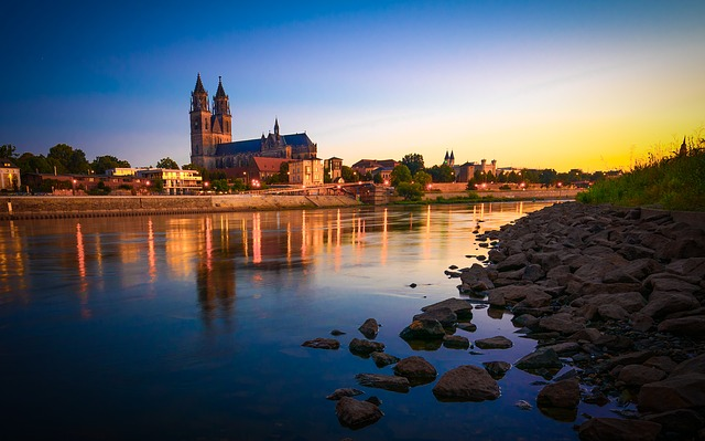 Saxony-anhalt, Dom, Magdeburg, City View, Germany