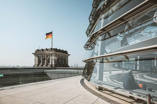 Architecture, Germany, Building, Flag