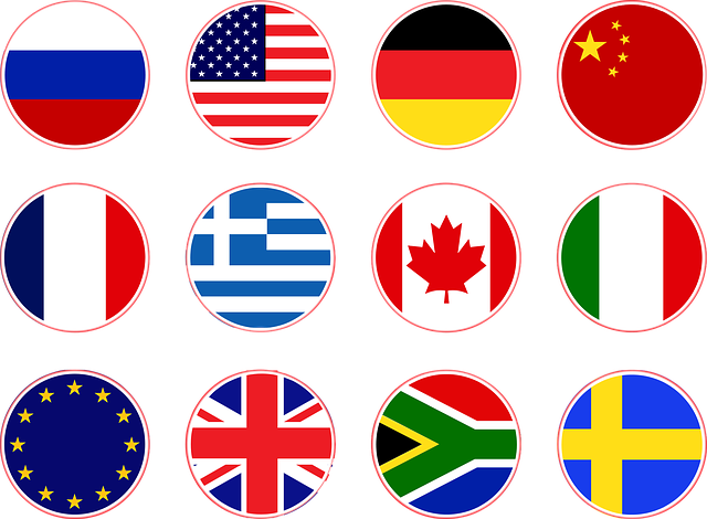 Flags, Russia, Usa, Germany, China, France, Greece