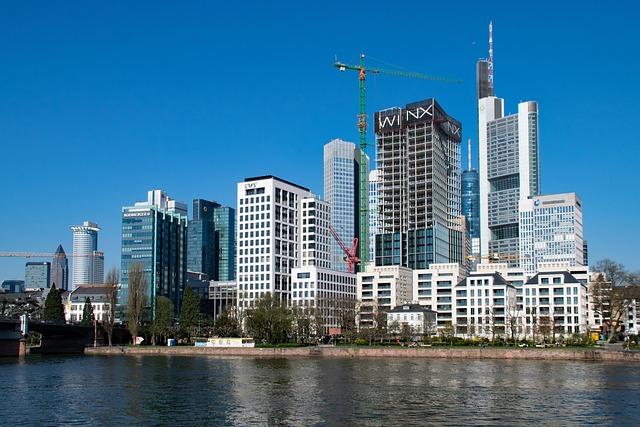 Frankfurt, Main, Hesse, Germany, Main Banks, Skyscraper