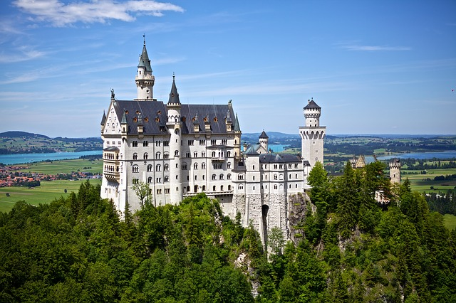 Neuschwanstein, Castle, Germany, Landmark, Architecture