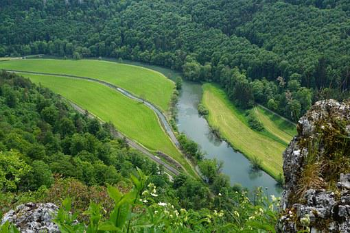 Danube, Nature, Rock, Landscape, River, Water, Germany