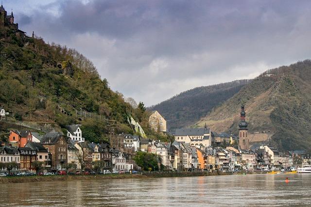 Germany, Cochem, Landscape, Village, River, Holiday