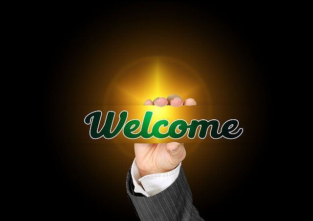 Hand, Welcome, Business Card, Note, Gesture