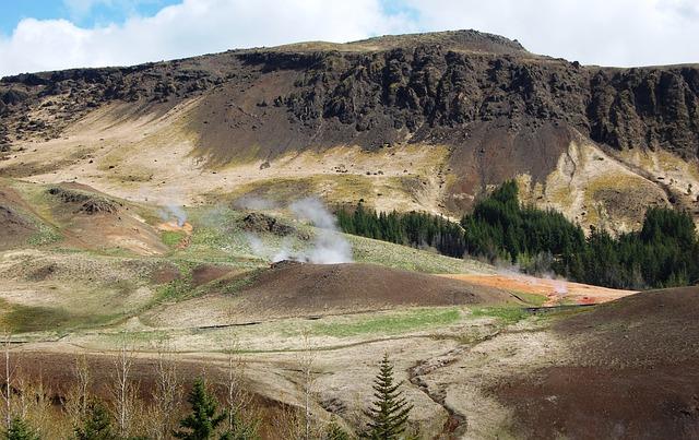 Iceland, Geysers, Landscape
