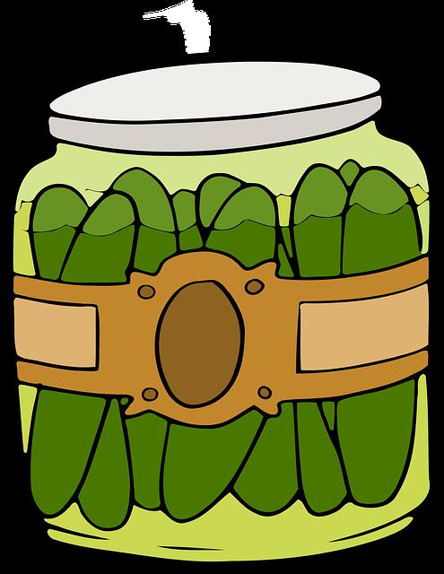Deli, Dill, Fermented, Food, Gherkin, Jar, Pickles