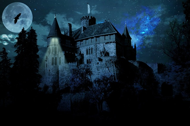 Haunted Castle, Ghost Castle, Castle, Darkness