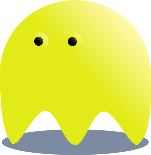 Yellow, Ghost, Pacman, Horror, Fantasy, Monster