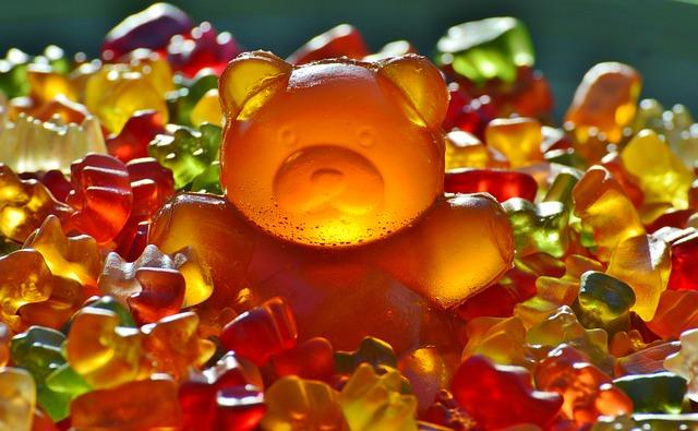 Giant Rubber Bear, Gummibär, Gummibärchen, Fruit Gums
