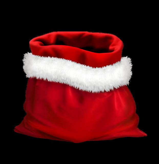 Gift, Gifts, Red Bag, Bag Of Santa Claus, Holidays
