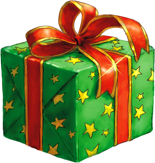 Present, Gift, Wrapped, Green, Celebrate, Box