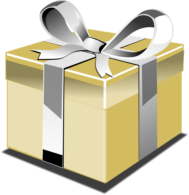 Present, Gift, Ribbon, Bow, Yellow, Gold, Silver