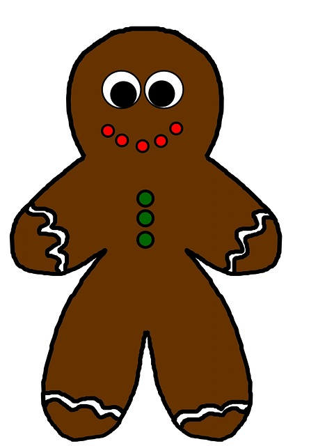 Gingerbread Man, Ginger, Bread, Man, Person, Outline