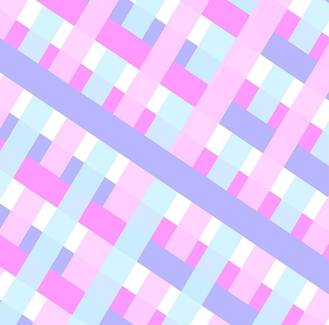 Gingham Plaid Baby Pink Blue White Pastels