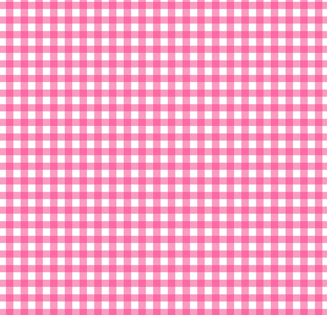Checks, Checked, Gingham, Pink, White, Background