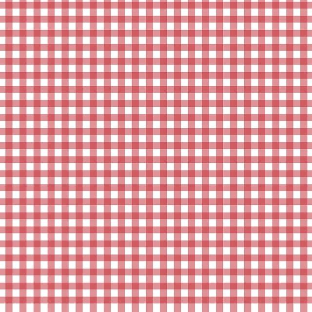 Checks, Checked, Gingham, Red, White, Background