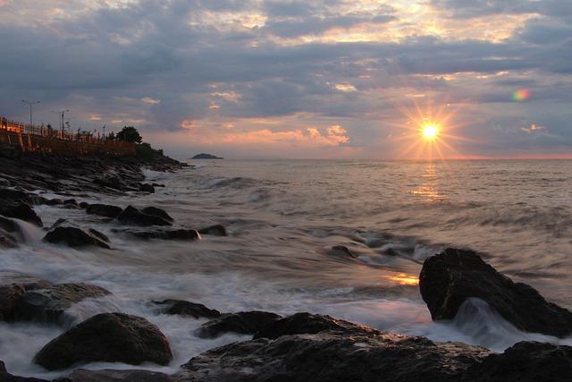 Marine, Beach, Solar, Sunset, Clouds, Giresun, Keşap
