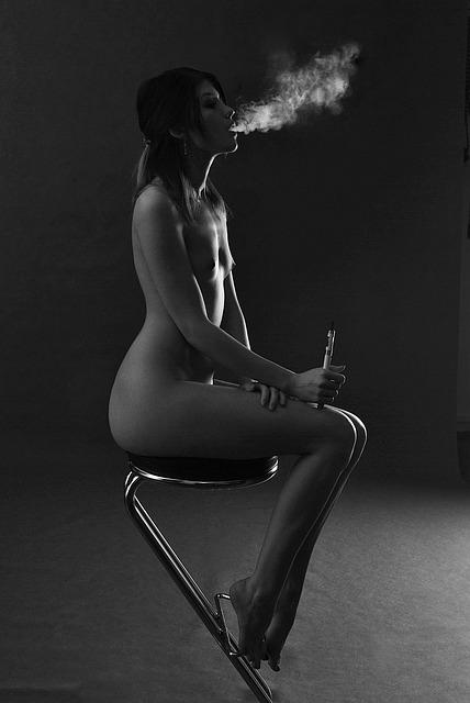 E-cigarette, Woman, Girl, The Act Of, A Person