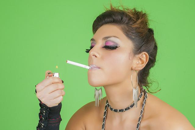 Smoking, Aggressive, Women, Fashion, Pinup, Girl, Dress