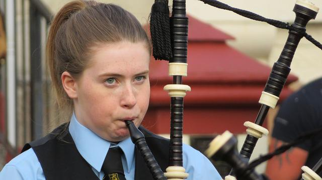 Bagpipes, Scotland, Child, Young People, Music, Girl
