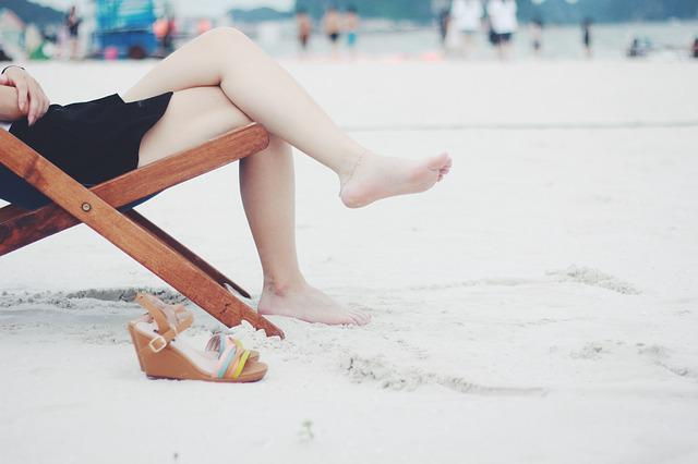 Beach, Beach Chair, Feet, Female, Footwear, Girl