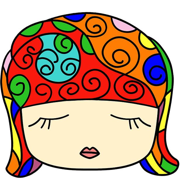 Head, Female, Head Band, Cartoon, Girl