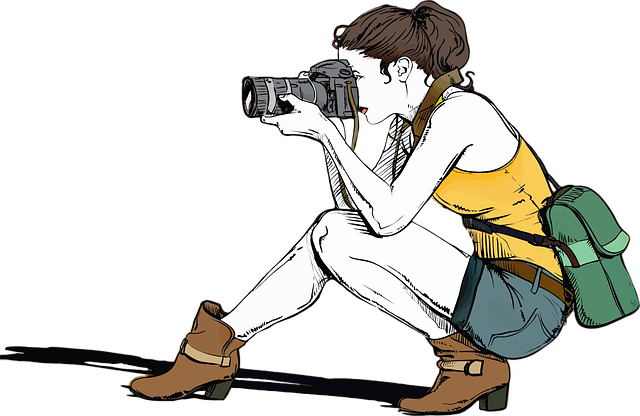 Camera, Female, Girl, Photographer, Picture, People