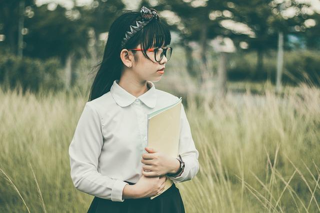 Asian, Blur, Book, Child, Fall, Fashion, Field, Girl