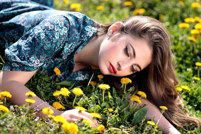Girl, Dandelion, Yellow, Flowers, Nature, Beauty