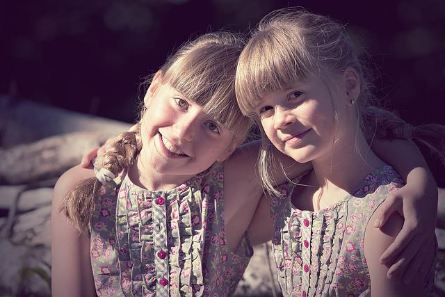 Children, Girl, Brothers And Sisters, Friendship, Hug