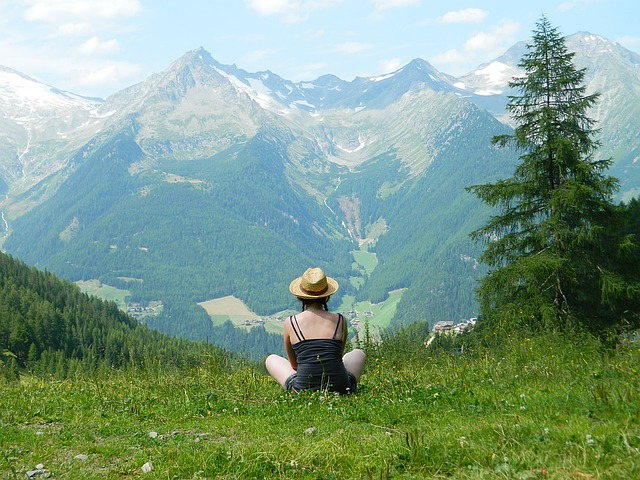 Tourism, Girl, Nature, Breather, Views, Hat, Alps, Hike