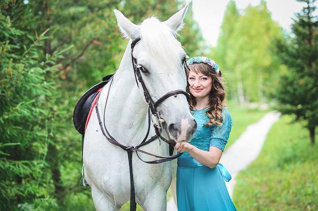 Girl, Beautiful Girl, Girls, Horse, Smile, Makeup