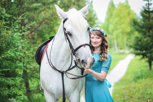 Girl, Beautiful Girl, Girls, Horse, Smile, Makeup