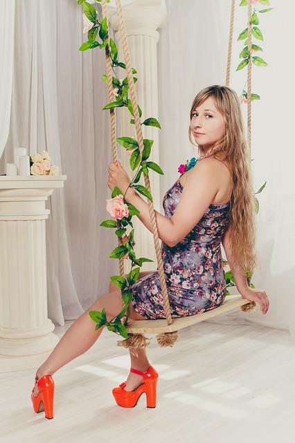 Swing, Girl, Interior, Long Hair, Photoshoot