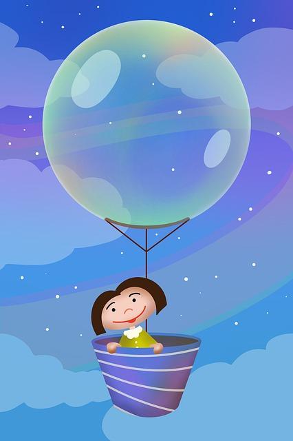 Girl, Balloon, Bubble, Child, Joy, Happy, Soap, Sky